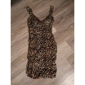 City Triangles Dresses - Brown spotted dress size Medium